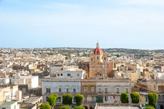 View over Victoria, Gozo island, Malta Royalty Free Stock Photos