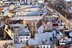 View over Vienna in snow Stock Photography