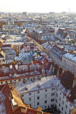 View over Vienna in snow Stock Image