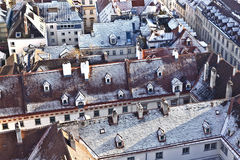 View over Vienna in snow Royalty Free Stock Image
