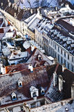 View over Vienna in snow Royalty Free Stock Photo