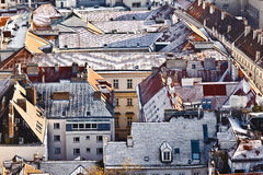 View over Vienna in snow Royalty Free Stock Photos