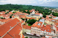 View over Vilnius. Lithuania from the tower of the Saint John church on the old University campus royalty free stock images