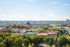 View over Vilnius, capital of Lithuania Stock Images