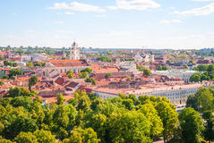 View over Vilnius, capital of Lithuania Royalty Free Stock Photo