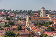 View over Vilnius old town Royalty Free Stock Photo