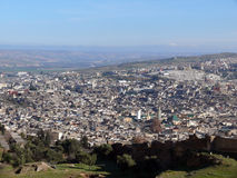 View over Walled Medina of Fes Stock Photos