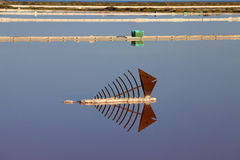 View over water surface of a salt basin Stock Images