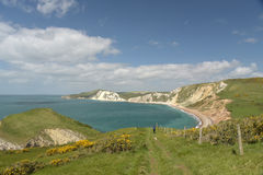 View over Worbarrow Bay, Dorset Stock Photos