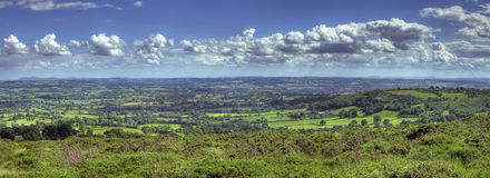 View over Worcestershire. View from Clee Hill over Worcestershire landscape, England Stock Images