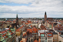 View over Wroclaw, Poland royalty free stock images