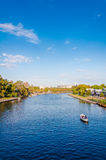 View over Yarra River in Melbourne, Australia royalty free stock photos