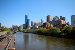 View over Yarra River Royalty Free Stock Image