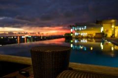 View over Yogyakarta at sunset.  Stock Image