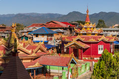 View over Ywama in the Inle Lake Royalty Free Stock Photography