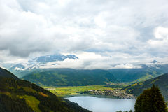View over Zeller See lake. Zell Am See, Austria, Europe stock photos
