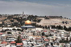 View overlooking Jerusalem city Royalty Free Stock Photos