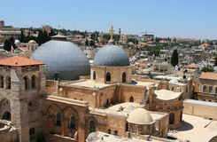 View overlooking Jerusalem city. Stock Photography