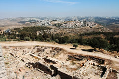 View overlooking Jerusalem city. Stock Images