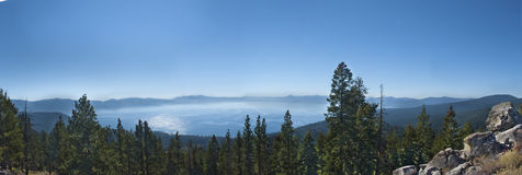 View overlooking Lake Tahoe. Beautiful morning view of Lake Tahoe Stock Photos