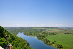 View overlooking river Stock Photography