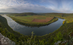 View overlooking the river_ Stock Photography