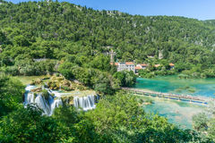 View Overlooking Skradinski Buk in Krka National Park Stock Image