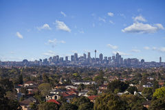 View overlooking Sydney Royalty Free Stock Images