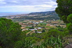A view overlooking the town in Spain Royalty Free Stock Images