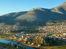 View overlooking the Trebinje city; Bosnia and Herzegovina Royalty Free Stock Photos