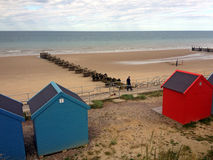 Overstrand Promenade and Beach, Norfolk Stock Photography