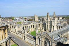 View of oxford from top of church tower Stock Photos