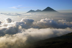 View from the Pacaya Volcano. Guatemala royalty free stock photos