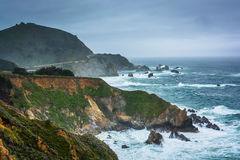 View of the Pacific Coast in Big Sur  Royalty Free Stock Image