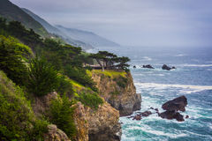 View of the Pacific Coast in Big Sur,  Royalty Free Stock Photo