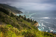 View of the Pacific Coast in Big Sur  Stock Photos