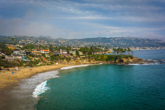 View of the Pacific Coast from Crescent Bay Point Park, in Lagun Royalty Free Stock Images