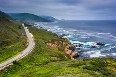 View of Pacific Coast Highway, at Garrapata State Park  Royalty Free Stock Images
