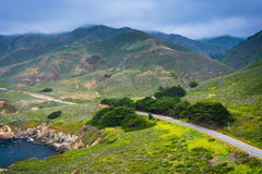 View of Pacific Coast Highway and mountains along the coast at G Stock Images