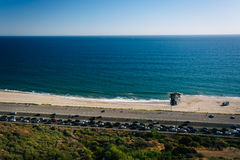 View of Pacific Coast Highway and the Pacific Ocean, in Pacific Royalty Free Stock Images