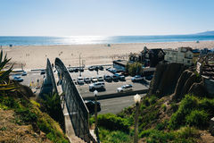 View of Pacific Coast Highway and the Pacific Ocean from Palisad Royalty Free Stock Photos