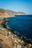 View of the Pacific Coast, in Malibu, California. View of the Pacific Coast, in Malibu, California Stock Photos