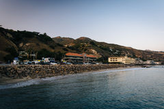 View of the Pacific Coast from the Malibu Pier, in Malibu, Calif. Ornia Royalty Free Stock Photography