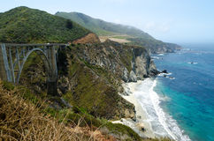 View on Pacific cost. California USA. View on Pacific cost in Big Sur area. California USA Stock Images
