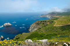 View on Pacific cost. California USA. View on Pacific cost in Big Sur area. California USA Stock Image