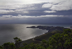View of Pacific Ocean from above. Royalty Free Stock Images