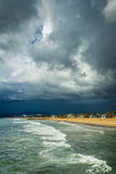 View of the Pacific Ocean and beach in Venice Beach  Stock Images