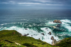 View of the Pacific Ocean in Big Sur  Royalty Free Stock Images