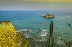 View of the Pacific Ocean from the coast of Ecuador. royalty free stock photography