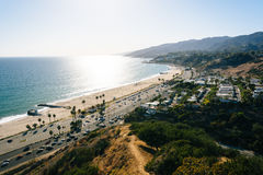 View of the Pacific Ocean in Pacific Palisades, California. Royalty Free Stock Images